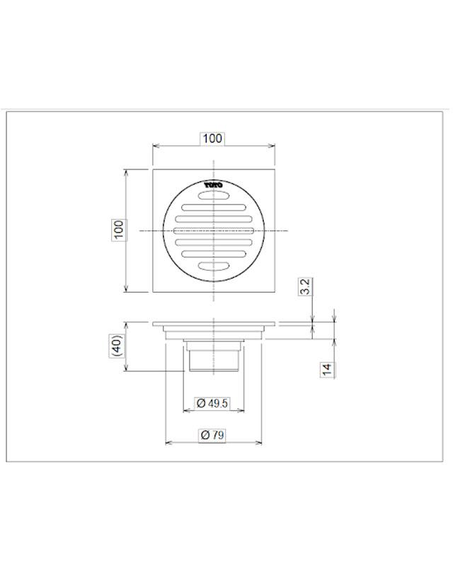 Thông số kỹ thuật phễu thoát sàn TOTO TVBA407
