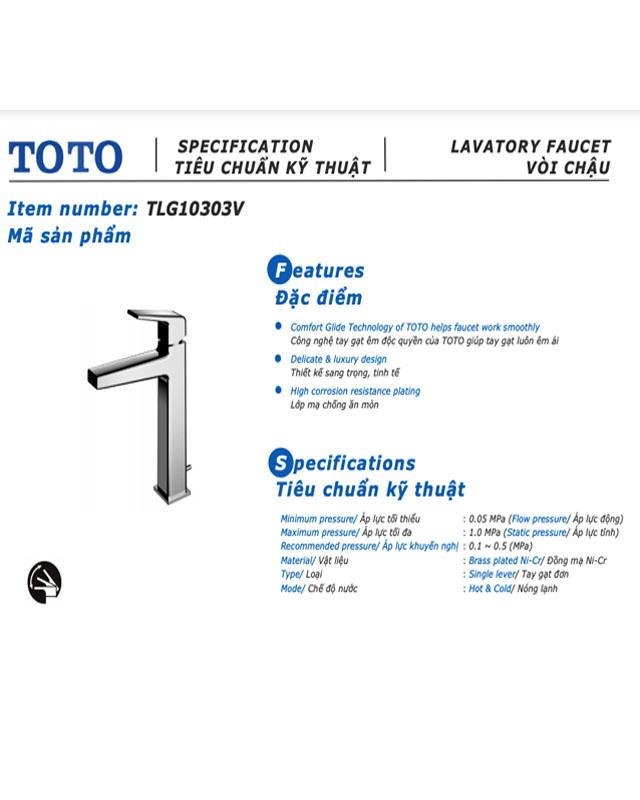 Tính năng nổi bật của vòi chậu Toto TLG02307V